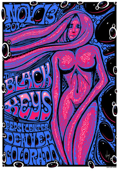 2014 The Black Keys Denver Show Poster - Zen Dragon Gallery