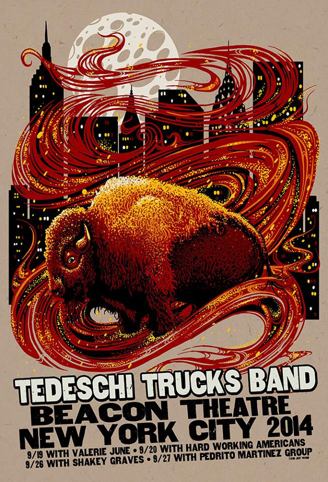 2014 Tedeschi Trucks Band Beacon - Zen Dragon Gallery