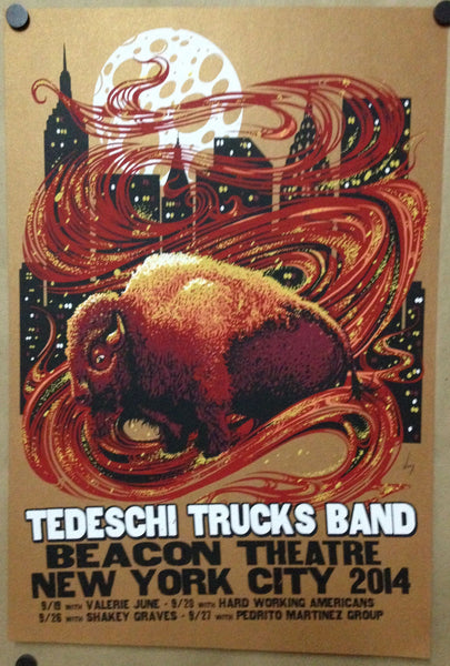 2014 Tedeschi Trucks Band Beacon Theatre Show Poster ALL VARIANTS - Zen Dragon Gallery