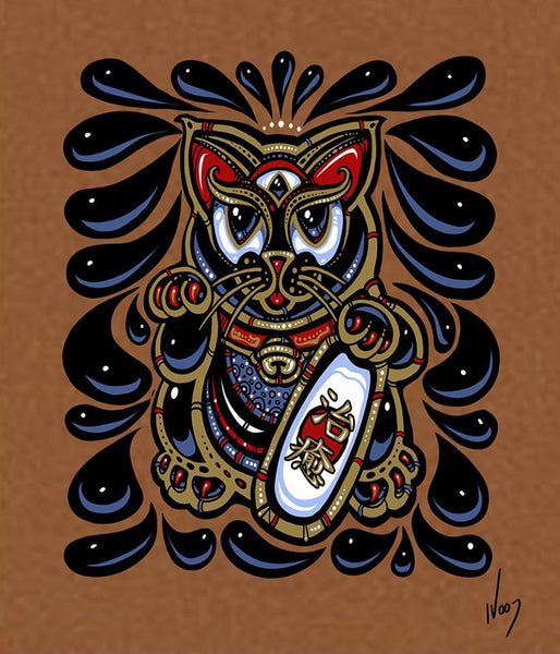 2017 Maneki-Neko Mini Art Print - Zen Dragon Gallery