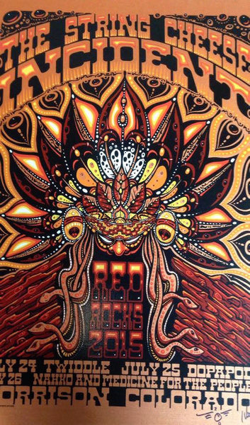 2015 The String Cheese Incident Red Rocks ALL EDITIONS - Zen Dragon Gallery