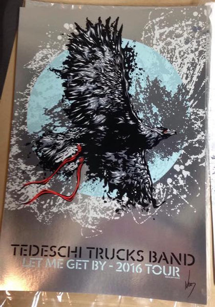 2016 Tedeschi Trucks Band Let Me Get By Tour Print ALL VARIANTS - Zen Dragon Gallery