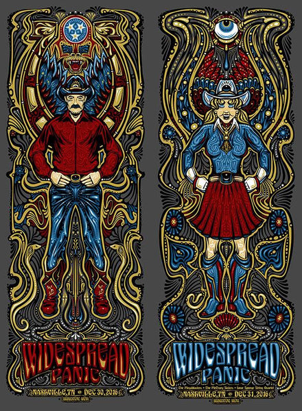 2016 Widespread Panic NYE Uncut ALL VARIANTS - Zen Dragon Gallery