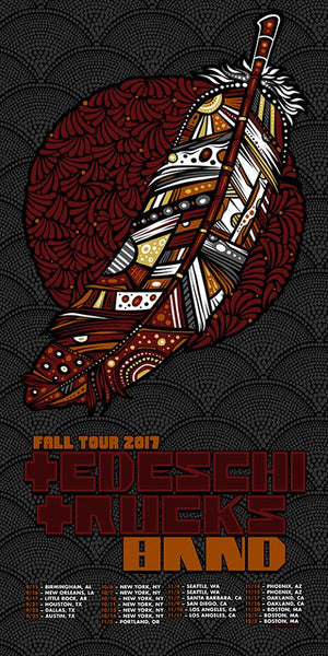 2017 Tedeschi Trucks Band Fall Tour Poster/Handbill
