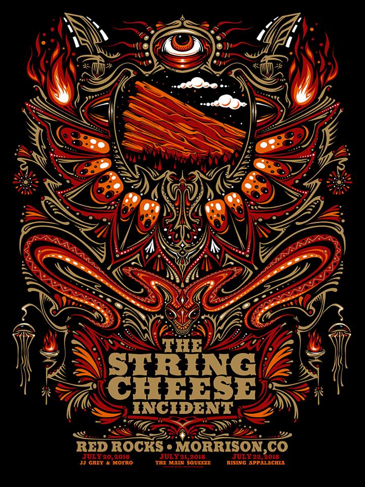 2018 String Cheese Incident Red Rocks - Zen Dragon Gallery