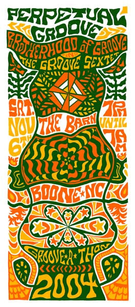 2004 Tripp Perpetual Groove Boone NC Show Poster or Handbill - Zen Dragon Gallery