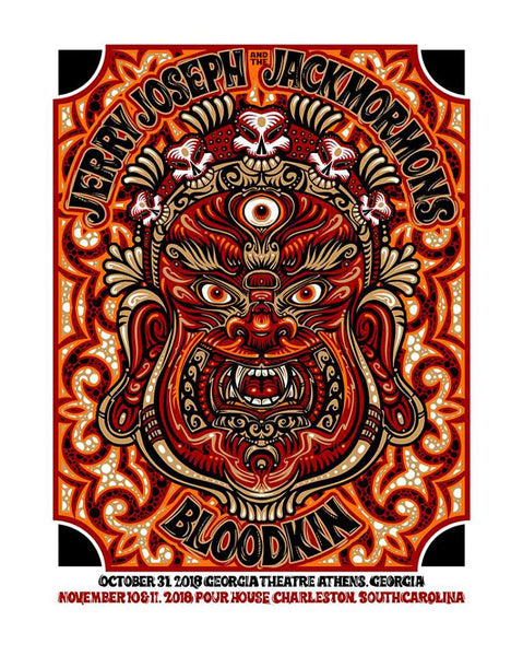 2018 Jerry Joseph & The Jackmormons w/ Bloodkin Print