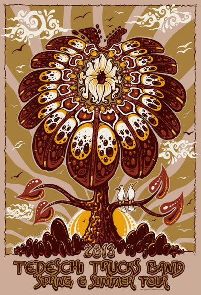 2013 Tedeschi Trucks Band Spring Summer Tour Poster - Zen Dragon Gallery