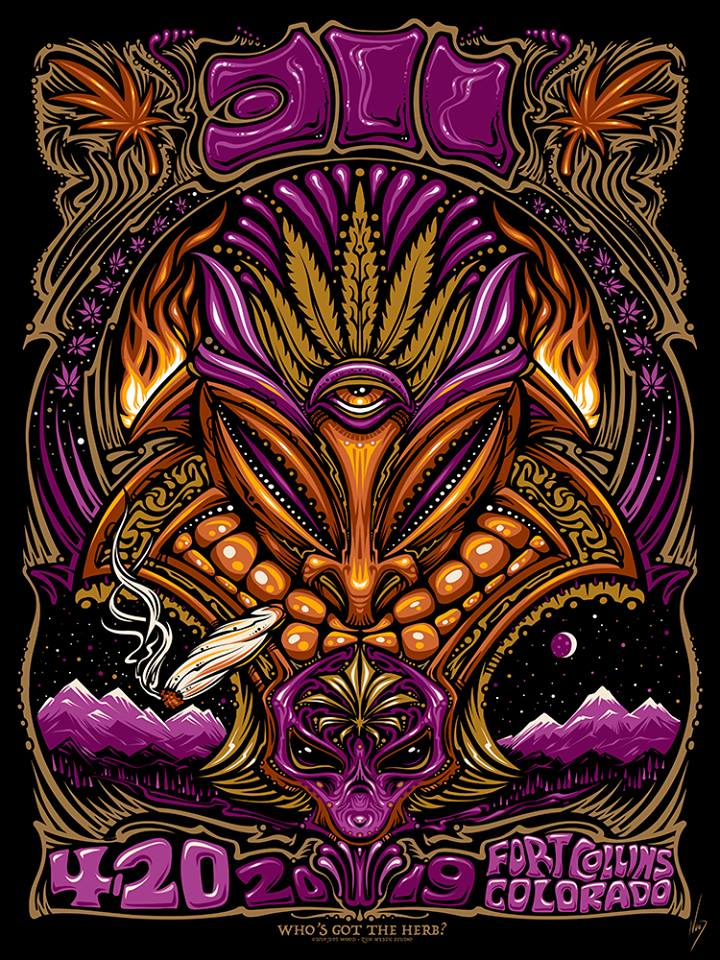 2019 311 4/20 Colorado Show Print - Zen Dragon Gallery