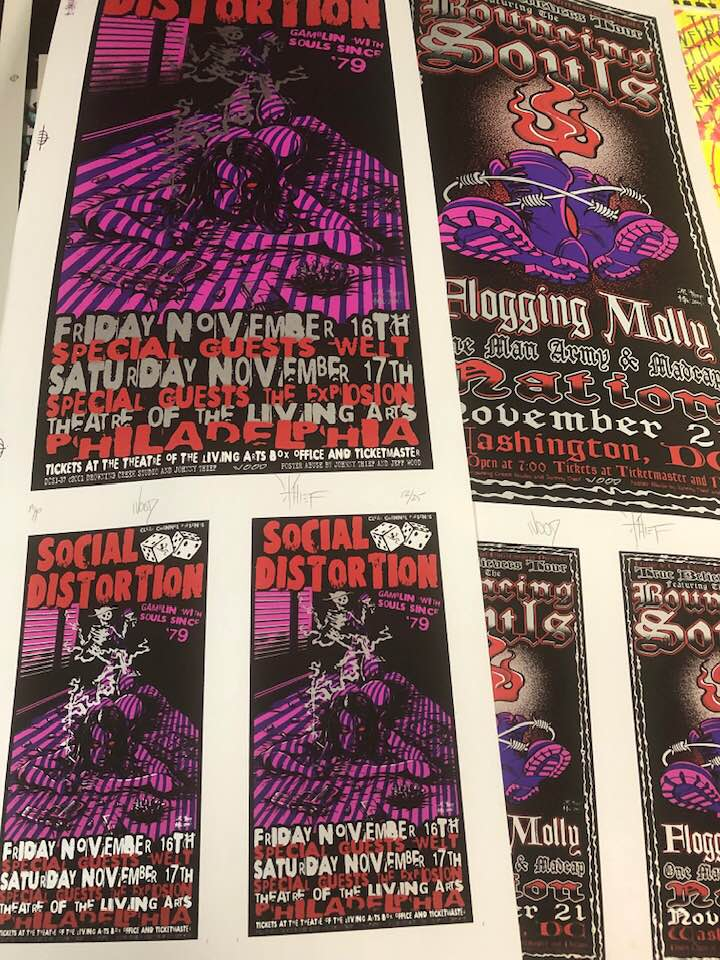 2001 Social Distortion Philadelphia Show Poster or Handbill - Zen Dragon Gallery