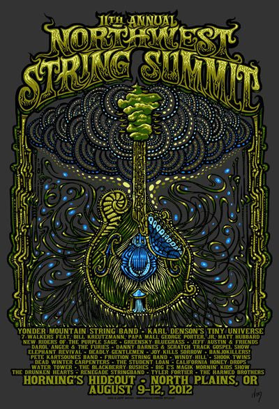 2012 Northwest String Summit Festival Poster - Zen Dragon Gallery
