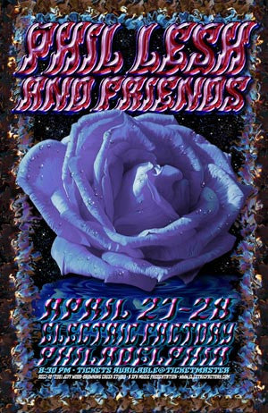 2001 Phil Lesh and Friends Philadelphia Litho Show Poster - Zen Dragon Gallery