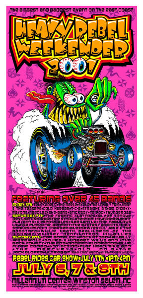 2001 Heavy Rebel Weekender Fest Poster or Handbill - Zen Dragon Gallery