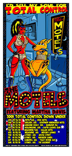 2001 The Motels Australian Tour Poster or Handbill - Zen Dragon Gallery
