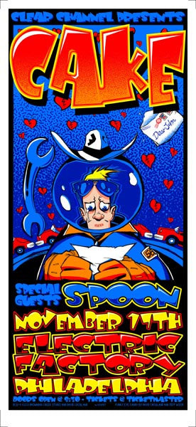 2001 Cake/Spoon Philadelphia Show Poster or Handbill - Zen Dragon Gallery