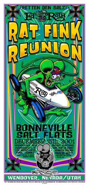 2001 Rat Fink Reunion Bonneville Salt Flats Poster or Handbill - Zen Dragon Gallery