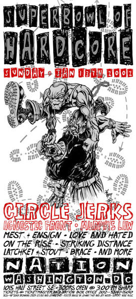 2001 Superbowl of Hardcore Circle Jerks Poster or Handbill - Zen Dragon Gallery