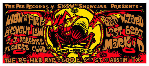 2002 SXSW TeePee Records Showcase Poster & Handbills