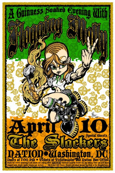 2002 Flogging Molly DC Show Poster - Zen Dragon Gallery