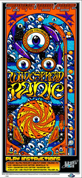 2002 Widespread Panic Spring Tour Pinball Poster or Handbill - Zen Dragon Gallery