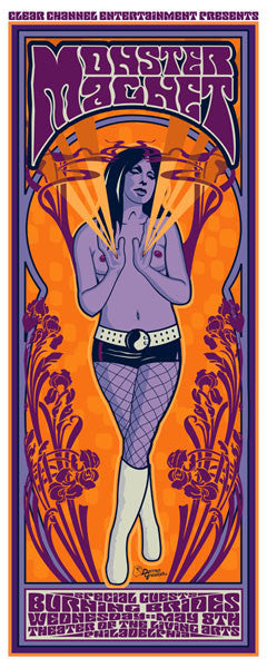 2002 Monster Magnet/Burning Brides Philly Show Poster - Zen Dragon Gallery