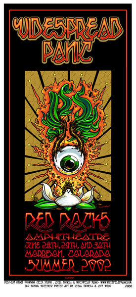2002 Widespread Panic Red Rocks Poster or Handbill - Zen Dragon Gallery