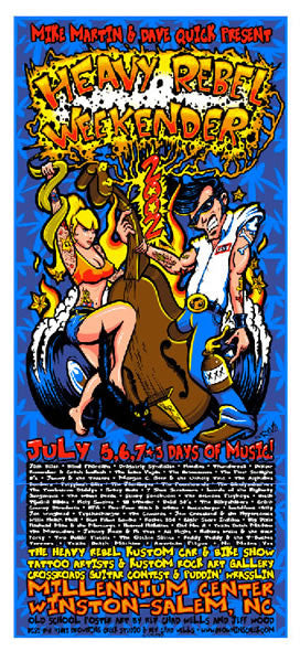 2002 Heavy Rebel Weekender Event Poster - Zen Dragon Gallery
