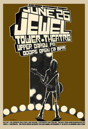 2002 Jewel Upper Darby PA Show Poster - Zen Dragon Gallery