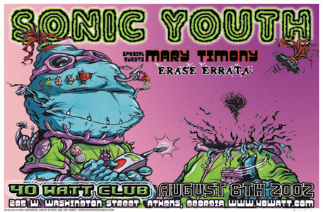 2002 Sonic Youth Show Poster - Zen Dragon Gallery