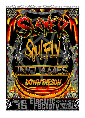 2002 Slayer Soufly Philly Show Poster - Zen Dragon Gallery