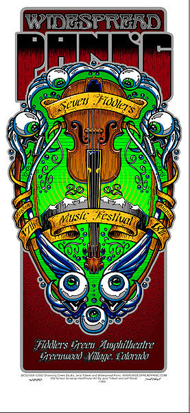 2002 Widespread Panic 7 Fiddlers Show Poster or Handbill - Zen Dragon Gallery