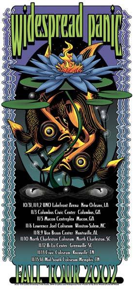 2002 Widespread Panic Fall Tour Poster or Handbill - Zen Dragon Gallery