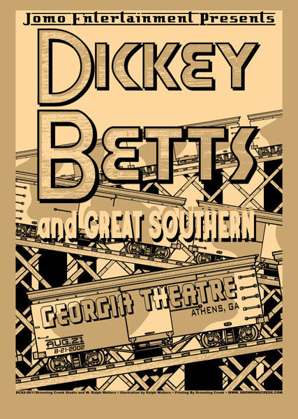 2002 Dickey Betts Show Poster - Zen Dragon Gallery
