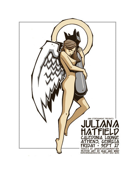 2002 Juliana Hatfield Caledonia Lounge Athens GA Poster - Zen Dragon Gallery