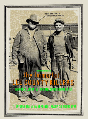 2002 Immortal Lee County Killers Show Poster - Zen Dragon Gallery