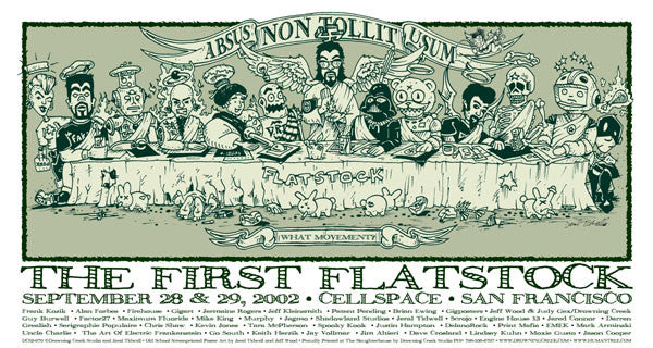 2002 Flatstock - The Last Supper - Zen Dragon Gallery