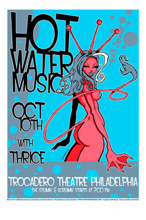 2002 Hot Water Music Philly Show Poster