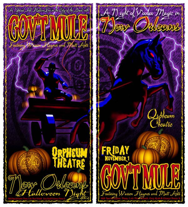 2002 Gov't Mule New Orleans Halloween Show Posters - Zen Dragon Gallery