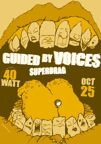2002 Guided By Voices Athens 40 Watt Show Poster - Zen Dragon Gallery