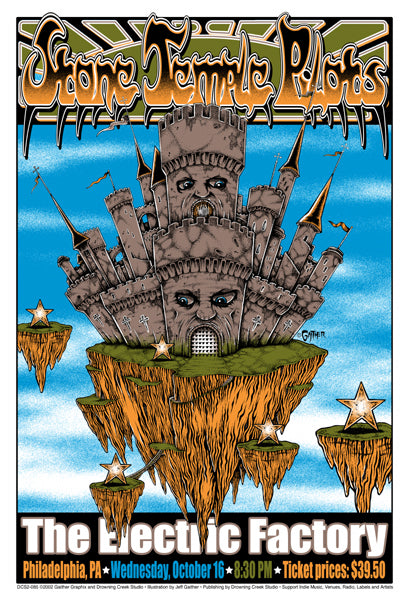 2002 Stone Temple Pilot Philly Show Poster - Zen Dragon Gallery