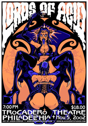2002 Lords of Acid Philly Show Poster - Zen Dragon Gallery