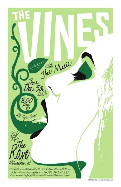 2002 The Vines Milwaukee Show Poster - Zen Dragon Gallery