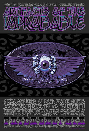 2002 Artifacts of the Improbable Event Poster - Zen Dragon Gallery