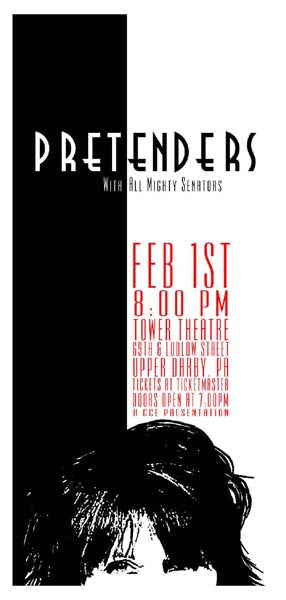2003 Pretenders Tower Theatre Philly Show Poster or Handbill - Zen Dragon Gallery