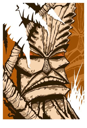 2003 Tiki In The Wood Art Print - Zen Dragon Gallery