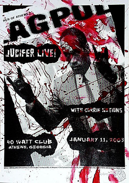 2003 Jucifer 40 Watt Club Athens Show Poster