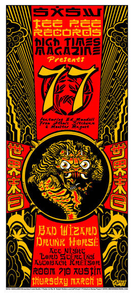 2003 SXSW Tee Pee Records/High Times Showcase Poster or Handbill - Zen Dragon Gallery