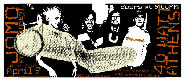 2003 The Used 40 Watt Club Athens Show Poster - Zen Dragon Gallery