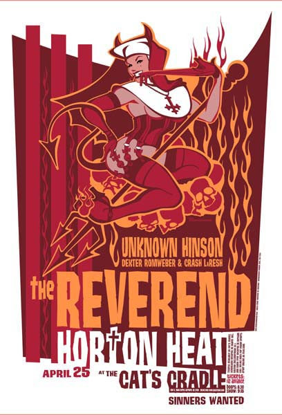 2003 Reverend Horton Heat/Unknown Hinson Show Poster