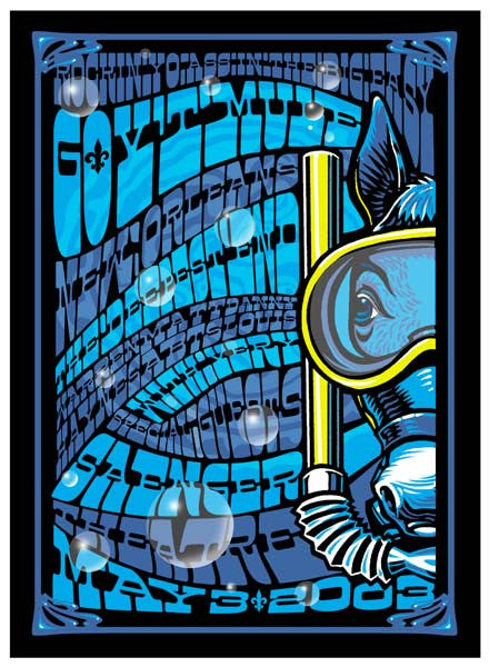 2003 Gov't Mule New Orleans The Deepest End Tribute Show Poster